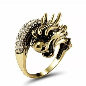 Vintage style dragon ring